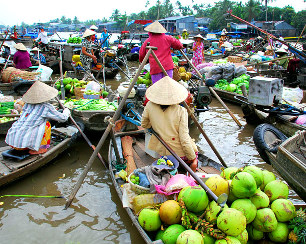 Can Tho Vietnam  city photos gallery : mekong river floating market can tho vietnam