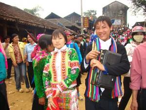 festival du marché de l'amour de Khau Vai