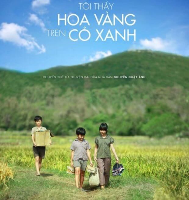 Film : Les fleurs jaunes sur les herbes vertes